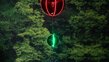 Christmas Ornaments with Chasing LED Light