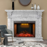 Kind Brand Led Recessed Electric Fireplace with 3 Flame Colors Remote Control