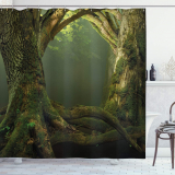 Twiggy Old Tree Branches Growth Life Themed Forest Woodland Shower Curtain