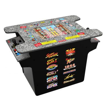 12-in-1 Head to Head Cocktail Table with Split Screen Street Fighter