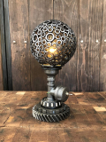 Industrial Steampunk Sphere USA Lamp