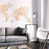 Wooden Map of The World Rustic Wall Art Wood Wall Map Home Decor