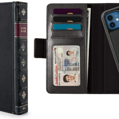 Twelve South BookBook for iPhone 12 Mini | 3-in-1 Leather Wallet Case