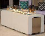 AKOYA Outdoor Essentials 70″ Linear Rectangular Modern Concrete Fire Pit