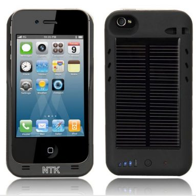 External Solar Powered Battery Charger Case