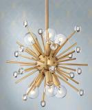 Antique Gold Mini Sputnik Pendant Chandelier