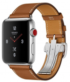 Apple Watch Series 3  Hermès – GPS+Cellular – Stainless Steel Case with Fauve Barenia Leather Single Tour Deployment Buckle