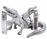 Arthur Court Designs Aluminum Alligator Salt and Pepper Set