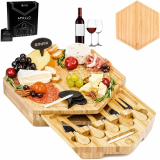 Bamboo Cheese Board Serving Set