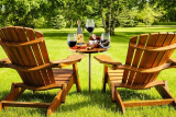 Bamboo Wine Table with Cutlery Cheese Set