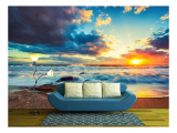 Beautiful Cloudscape Over The Sea Self-Adhesive Large Wallpaper