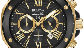 56% discount: Bulova Men's 44mm Marine Star Chronograph Watch