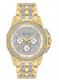 Bulova Men's Swarovski Crystal Pave Bracelet Watch