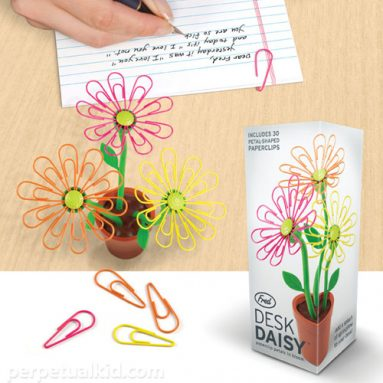 Desk Daisy Paperclip Holder