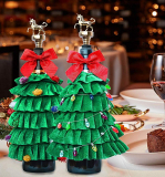 Christmas Tree Wine Bottle Cover