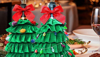 Christmas Tree Wine Bottle Cover