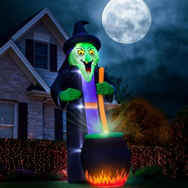 The 12′ Cackling Conjuring Witch