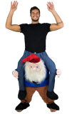 Adult Stuffed Carry On Gnome Fancy Dress Costume