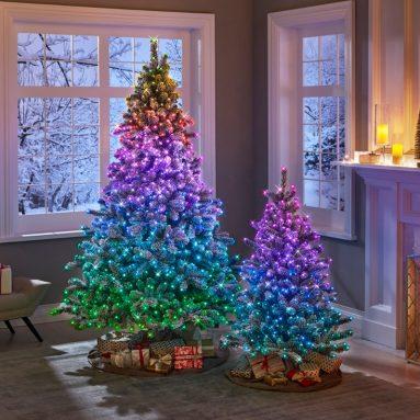 The Dancing Light Flocked Tree