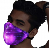 LED Mask with 7 Color Glowing Luminous Rave Mask