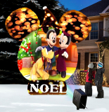 The Video Projecting 8′ Disney Musical Snow Globe