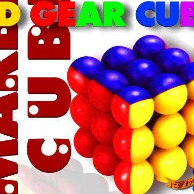 Marble 3D Gear Cube