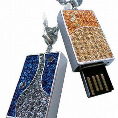 USB flash drive with Swarovski crystals