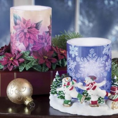 Paraffin Candles with LED Flame