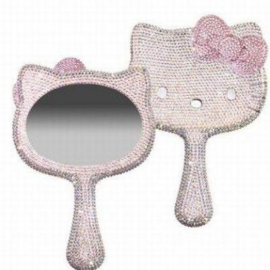 Hello Kitty Crystal Handheld Mirror Swarovski Elements