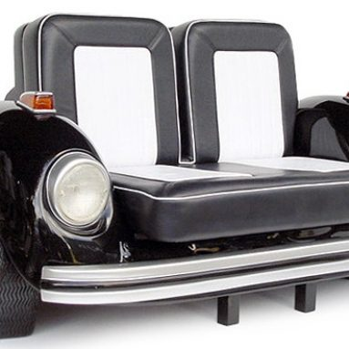 VW Beetle Sofa Black