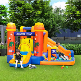 Doctor Dolphin Inflatable Kids Slide Water Park Bounce House