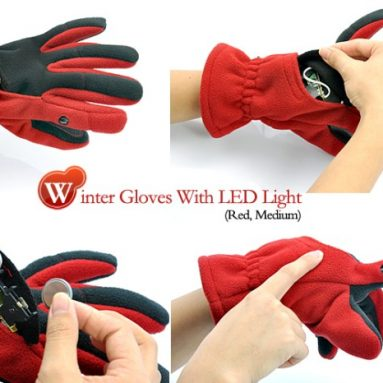 Winter Gloves With LED Light
