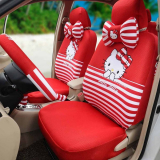 Hello Kitty Red Comfortable Breathable Universal Car Seat Cover