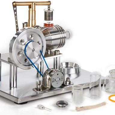 Hot Air Stirling Engine Motor Educational Toy