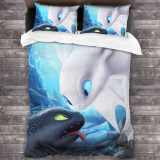 How to Train Your Dra-gon Ultra Soft Lightweight Skin-Friendly Bedding Set 3 Pieces