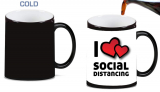I Love Social Distancing Magic Color Morphing Ceramic Coffee Mug