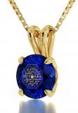 I Love You Necklace 12 Languages 24k Gold Inscribed on Crystal
