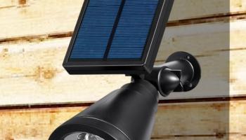 LED Solar Outdoor Spotlight Wall Light