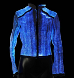 Jacket made of Luminous Fiber Optics