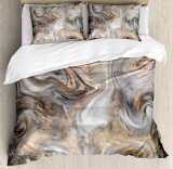 Marble Duvet Cover Set Queen Size