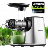 Masticating Juicer, Willsence Slow Juice Extractor, Nutrition Master Clod Press Juicer Machine with Reverse Function