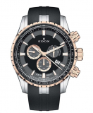 Men's 'Grand Ocean' Swiss Quartz Stainless Steel and Rubber Diving Watch