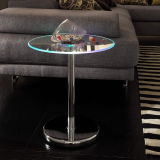 Modern Style LED Accent Tempered Glass Table