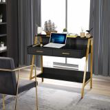 Modern Writing Desk with Hutch