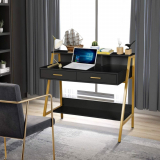 Modern Writing Desk with Hutch