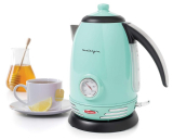 Nostalgia Retro Stainless Steel Electric Water Kettle