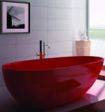 Oval Stone Resin Freestanding Bathtub