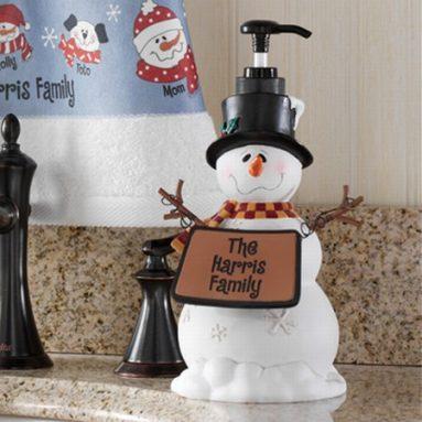 Snowman Lotion Dispenser