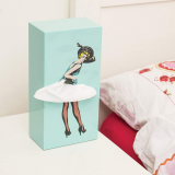Pin Up Girl Tissue Box Cover