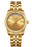 Presidential 18K Shining Gold Plated with Date and Day, luminous and Diamonds Indexes